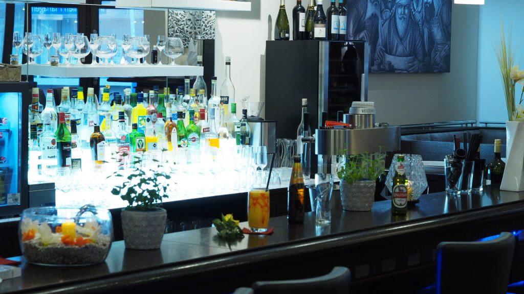 Thekenbereich im Restaurant Prinz Buer